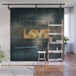 LOVE – Neon Retro Wall Mural