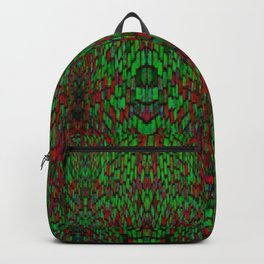 Red and Green Pattern Backpack