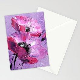 Pavot mauve Stationery Cards