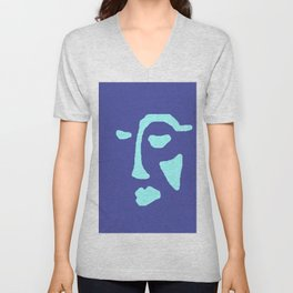 Blue Face Unisex V-Neck