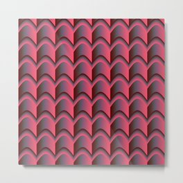 Pink, Grey, Green Abstract Pattern Metal Print