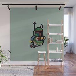 StarWars Bobba Fett Pixel Wall Mural