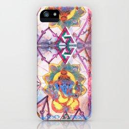 Hindu Geo Psych iPhone Case