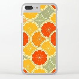 Summer Citrus Slices Clear iPhone Case