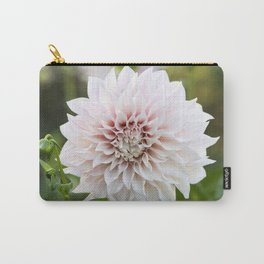 Cafe Au Lait Dahlia Buds and Bloom Carry-All Pouch