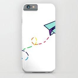 Rainbow Paper Plane iPhone Case