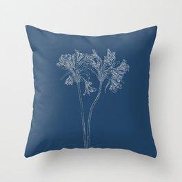 Parrot Lily Blueprint Throw Pillow