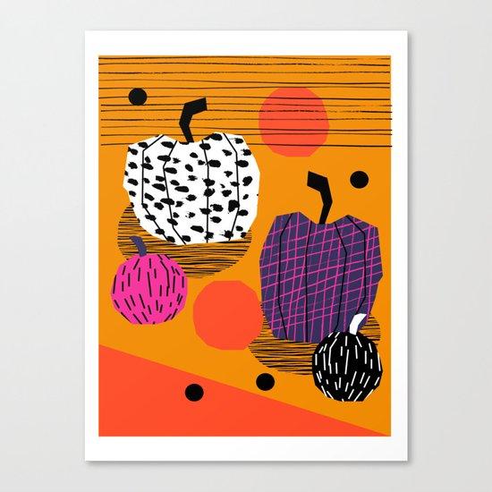 Yar - pumpkin halloween fall autumn throwback retro style fashion urban trendy 1980s 1980 80s 80's  Canvas Print