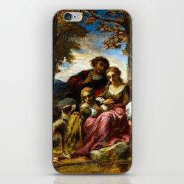 Narcisse-Virgile Diaz de la Peña Figures and a Dog in a Landscape iPhone Skin