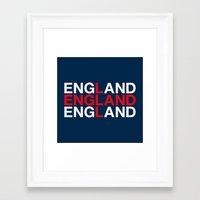 england Framed Art Prints featuring ENGLAND by eyesblau