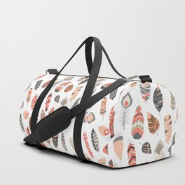 Tribal feather pattern 004 Duffle Bag