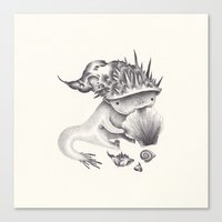 shell Canvas Prints featuring shell by yohan sacre
