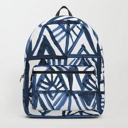 Geometric Indigo Backpack