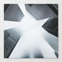 cityscape Canvas Prints featuring Cityscape by General Design Studio