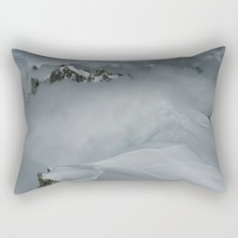From Aiguille du Midi in the French Alps /Mont Blanc Rectangular Pillow