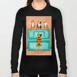Piano Cats Long Sleeve T-shirt
