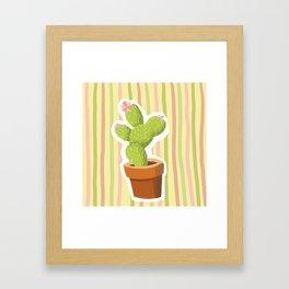 Yellow Cactus Framed Art Print