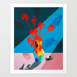 El tacto de las flores  Art Print