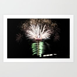 Seattle, Photography, Landscape, Fine Art, Space Needle, New Years Eve, Fireworks Art Print