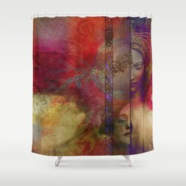 Past Present Future Shower Curtain