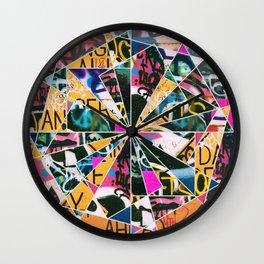 Graffiti Mosaic Wall Clock