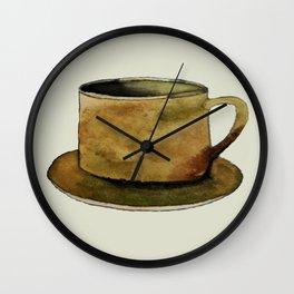 Mug on Plate Wall Clock