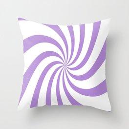 Spiral (Lavender & White Pattern) Throw Pillow