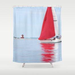 Straights of Mackinac Shower Curtain