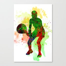 Tennis player Canvas Print