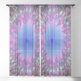 Hippie Starburst Mandala Sheer Curtain