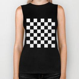 Checker - Black & White Biker Tank