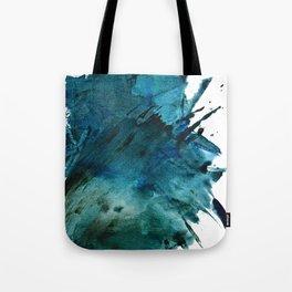Scenic Route [2]: a pretty, minimal abstract piece in blue and green by Alyssa Hamilton Art Tote Bag