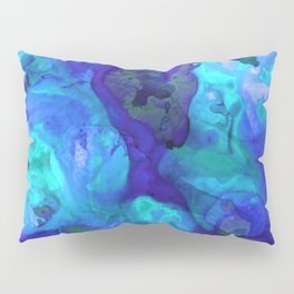 Violet Blue - Abstract Art By Sharon Cummings Pillow Sham