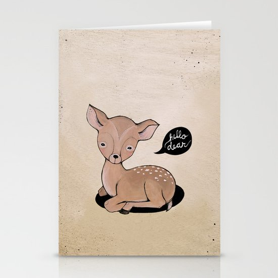 Hello Dear Stationery Cards