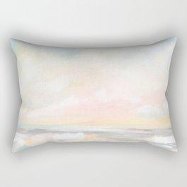 Rebirth - Pastel Ocean Seascape Rectangular Pillow