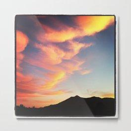 Mt Tamalpais Sunset Metal Print