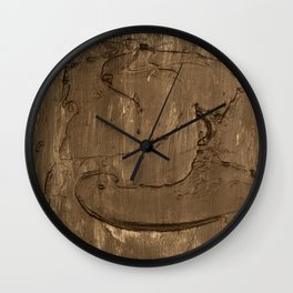 Nickel face Wall Clock