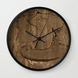 Nickel face Wall Clock