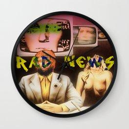 RAD NEWS Wall Clock