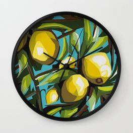 Lemon Tree Wall Clock