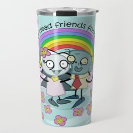 Best Dead Friends Forever - Steve the zombie & Violet the vapire Travel Mug