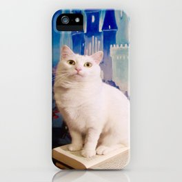 The tale of Tyche the white kitty iPhone Case