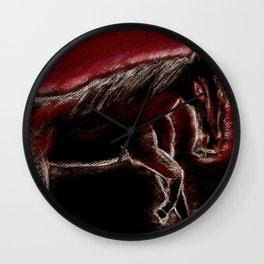 Phantom horse Wall Clock