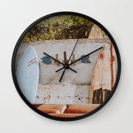 lets surf xii Wall Clock