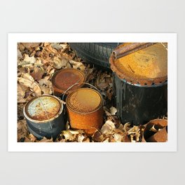 Rusty Cans Art Print
