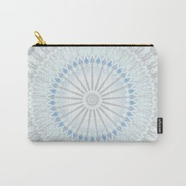 Pale Blue Taupe Mandala Carry-All Pouch