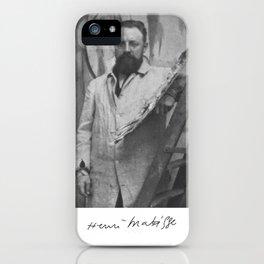 Henri Matisse Signature Portrait iPhone Case