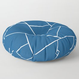 Poster Background   Classic Blue Geo Glam Floor Pillow