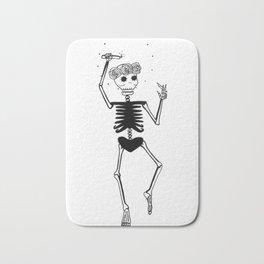 Dancing Skeleton Bath Mat