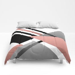 Sophisticated Ambiance - Silver & Rose Gold Comforters
